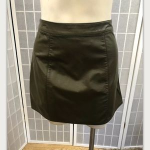 Forever 21, skirt, black, faux leather, size M.: